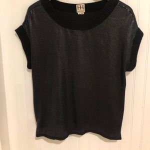 Haute Hippie black sewuin side zip Top M
